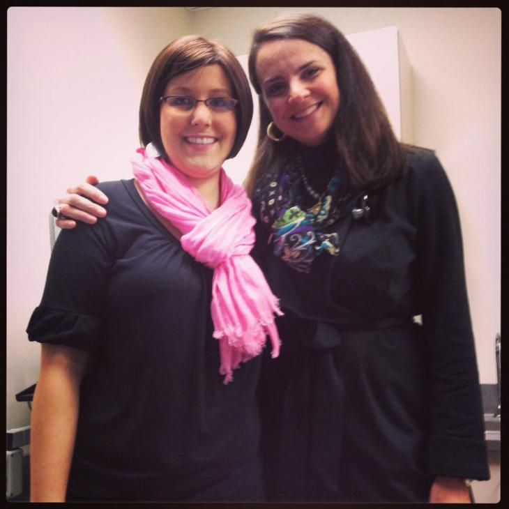 Carmen and her oncologist, the wonderful and talented Dr. Heather White (http://achristianoncologist.com)