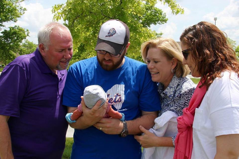 My family meeting Wesley James for the first time!